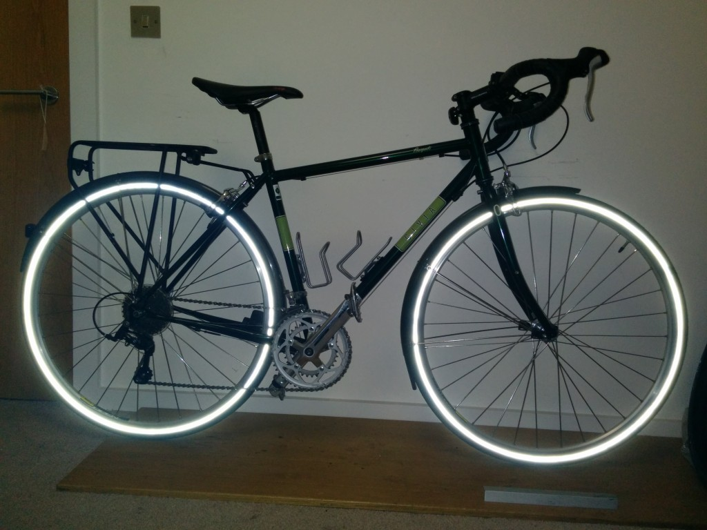 Commuter bike in Tron mode!