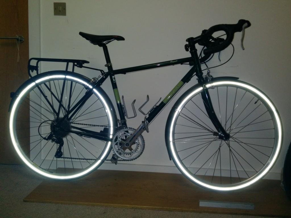 Commuter bike in Tron mode!